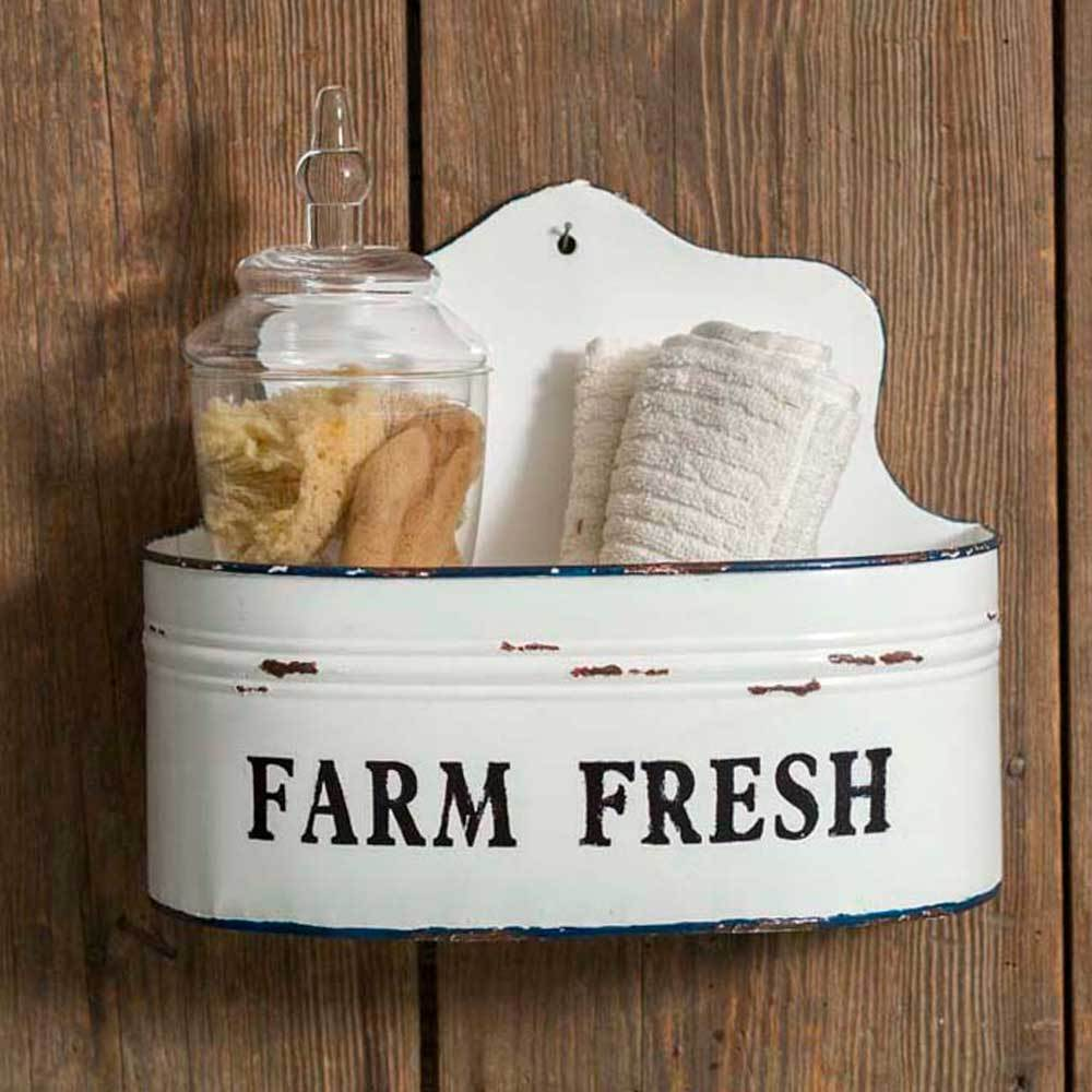 Vintage Inspired Set of Farmhouse Wall Bins
