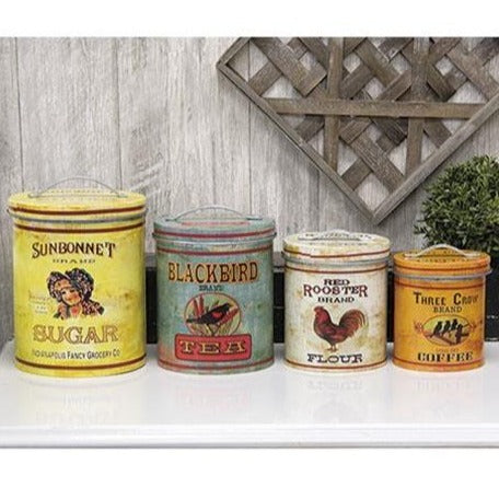 Vintage Kitchen Containers - Set of 4