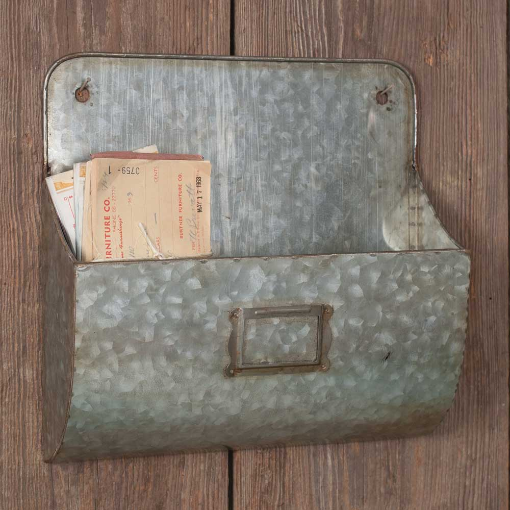 Farmhouse Chic Wall Pockets - Set of 2