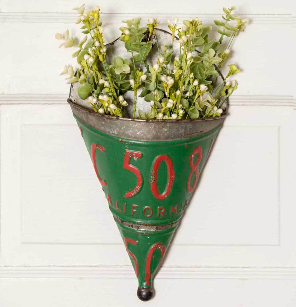 Set of 2 License Plate Wall Planters