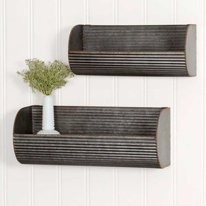 Long Corrugated Wall Displays
