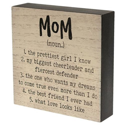 Antique White Box Sign - The Unofficial Definition of Mom
