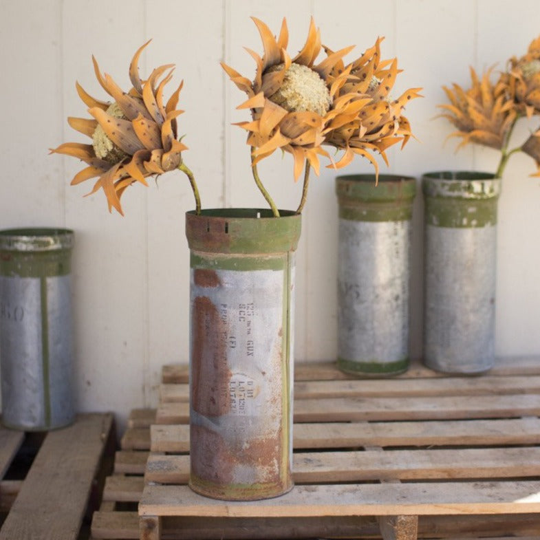 Reclaimed Metal Ammunition Vase