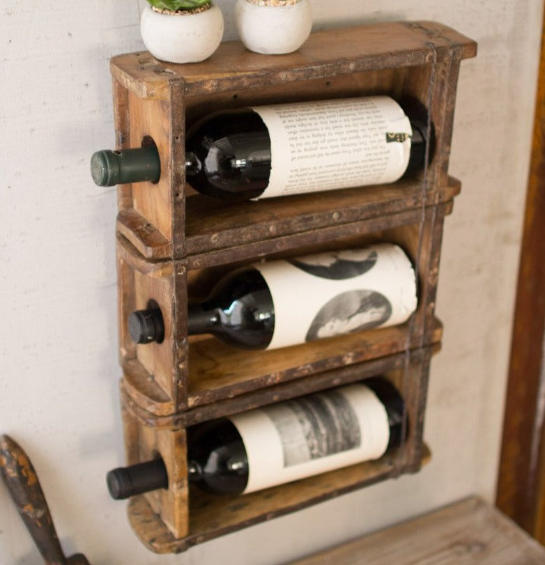 Reclaimed Brick Mold Wine Rack
