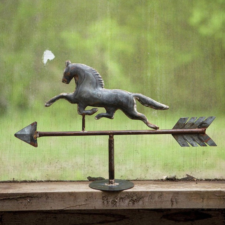 Galvanized Horse Weathervane