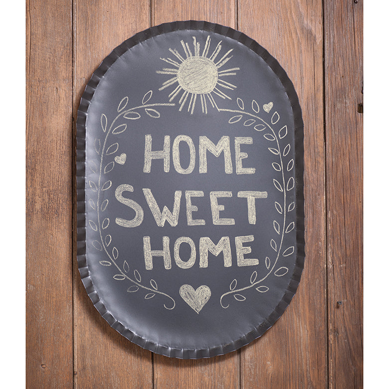Charming Oval Crimped Blackboard