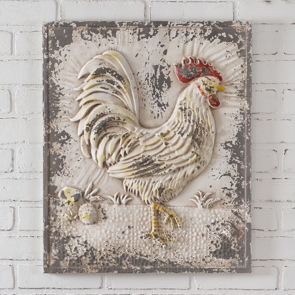 Chippy Rooster Wall Decor