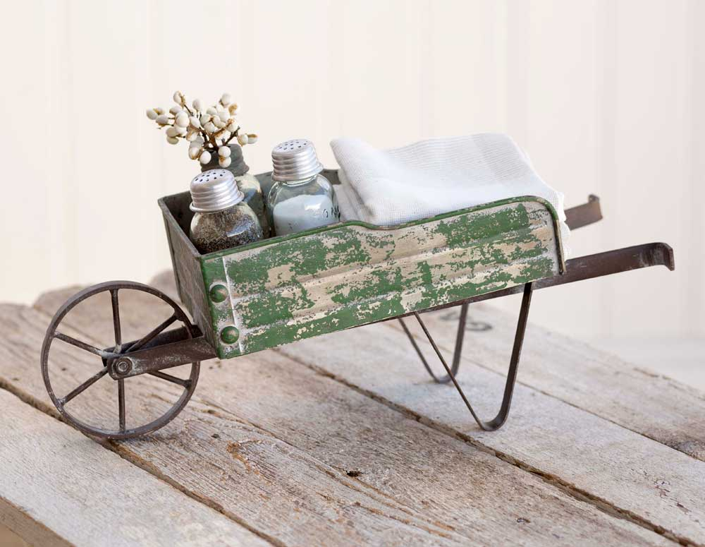 Farmhouse Wheelbarrow Caddy