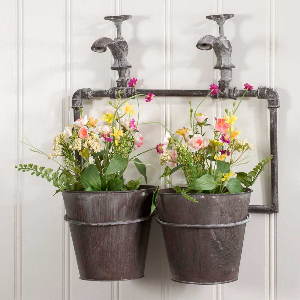 Lovely Napa Two Pot Wall Planter