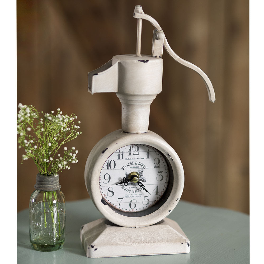 Vintage Cream Water Pump Clock