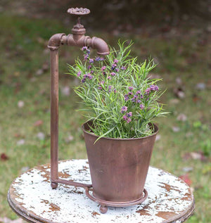 Water Spigot Tabletop Planter