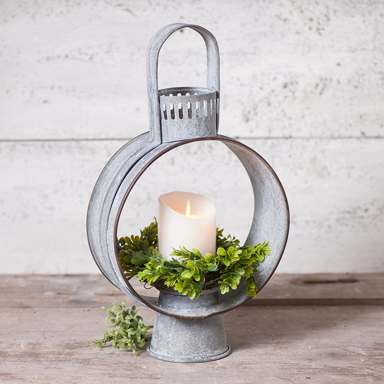 Weathered Open Candle Lantern