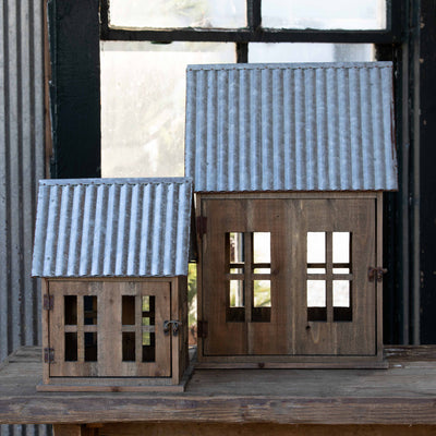 Tin Roof Christmas Cottages - Set of 2