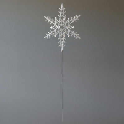 Glass Beaded & Gem Snowflake Tree Topper
