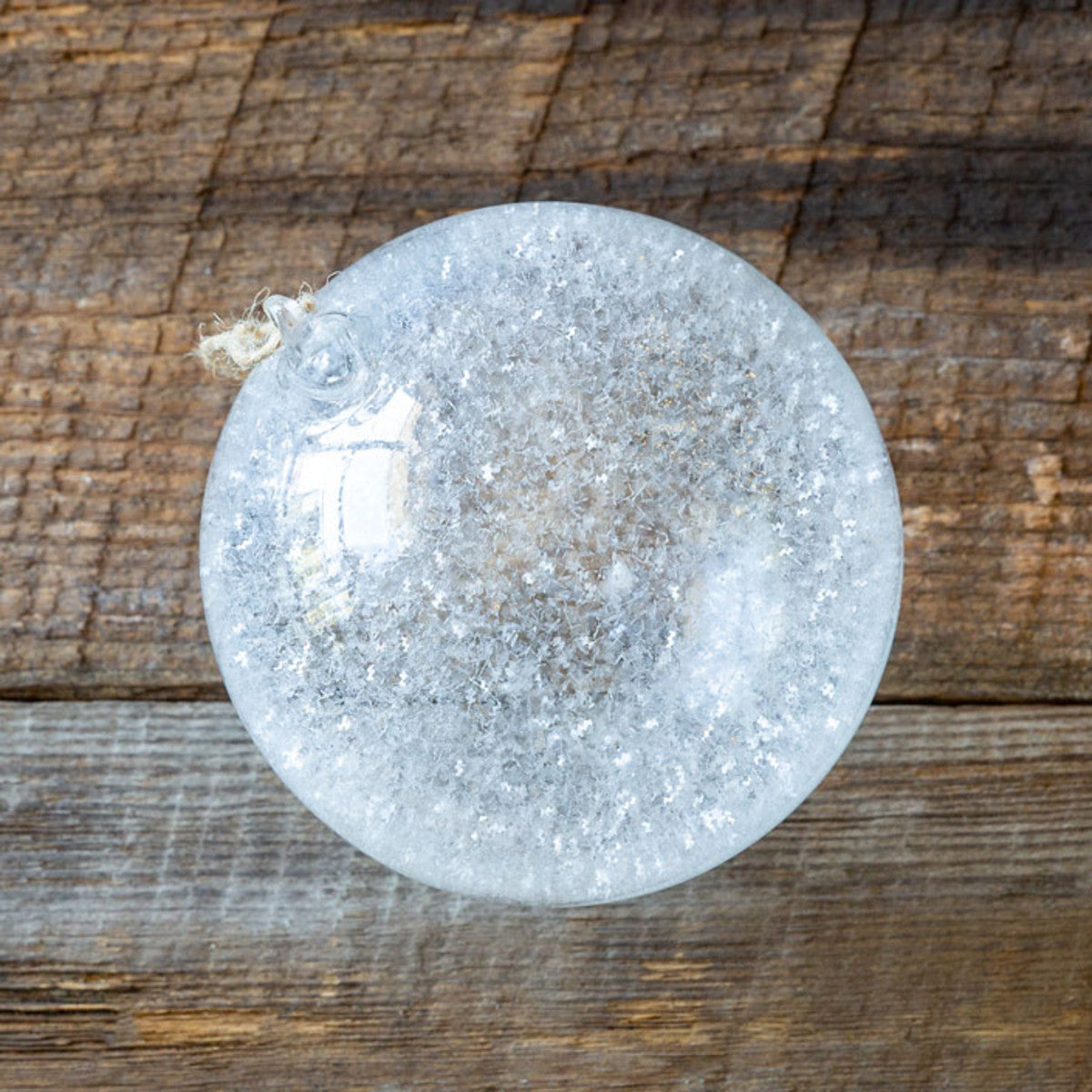 Large Frosted Glass Ball Ornament - Set of 12