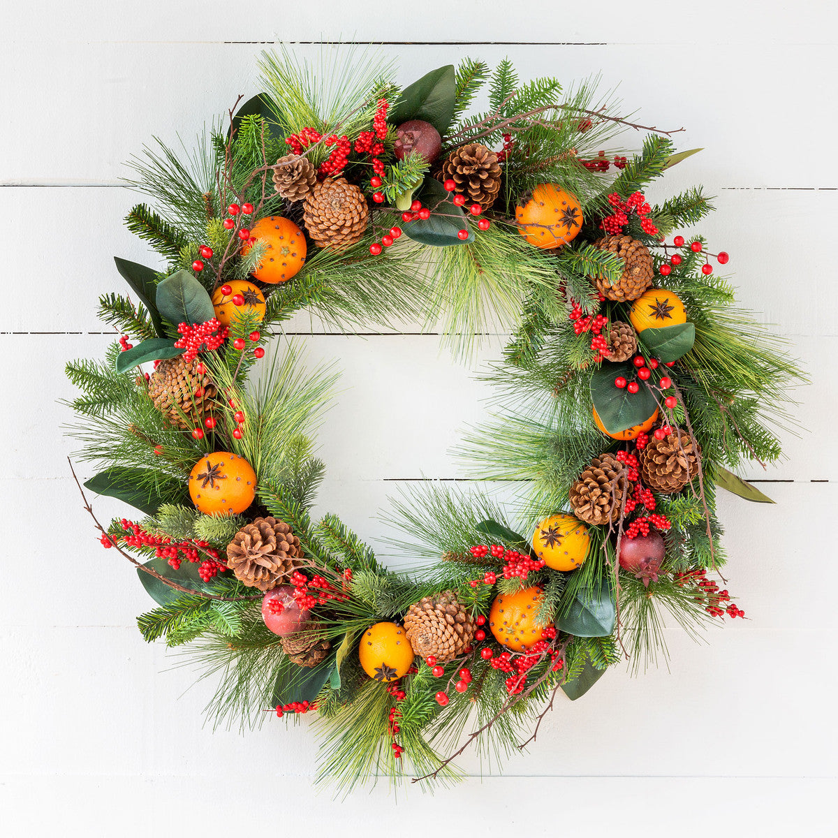 Cloved Fruit And Pine Wreath