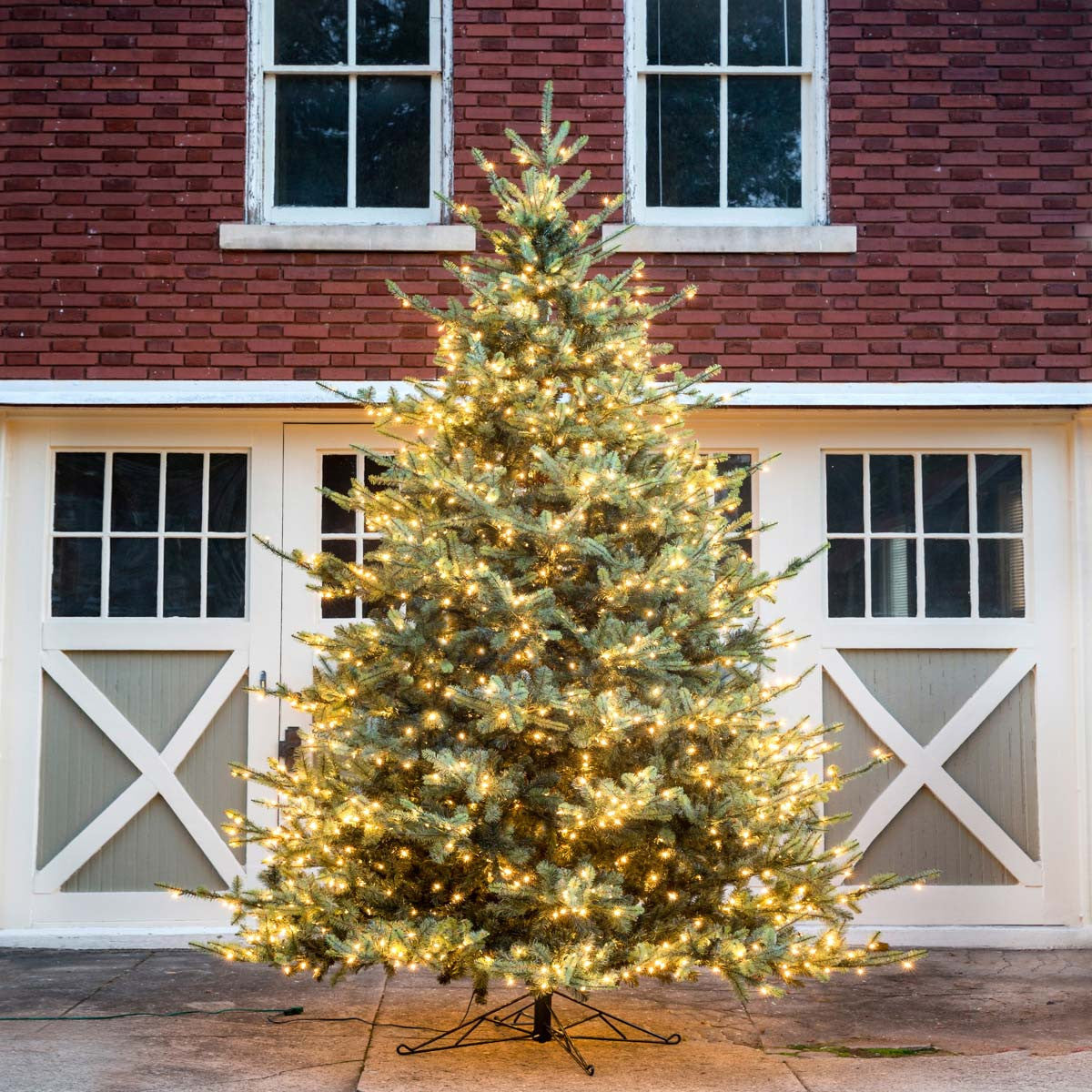12' Faux Blue Spruce Tree with LED