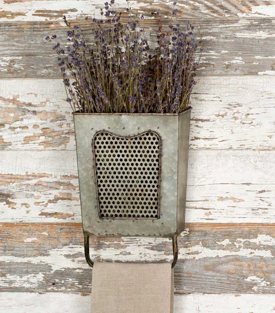 Rustic Galvanized Wall Box