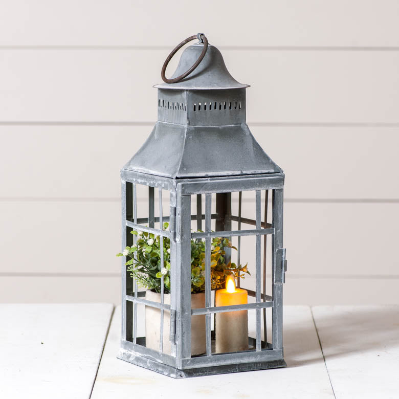 Weathered Zinc Centerpiece Lantern
