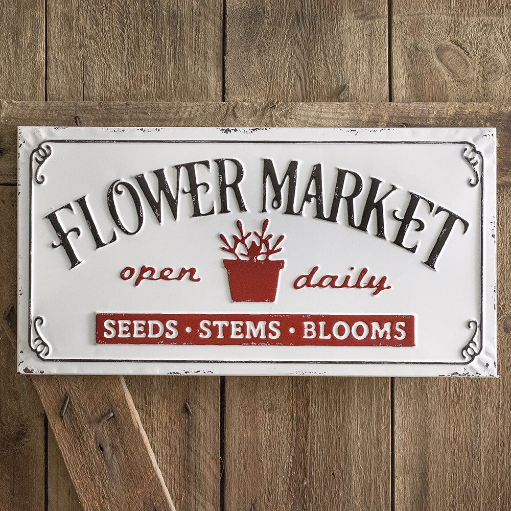 "Charming ""Flower Market"" Sign"