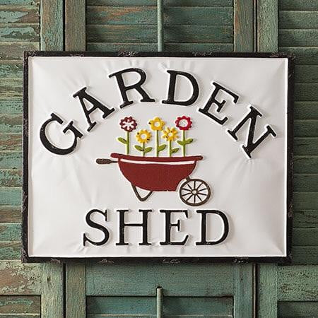 "Adorable ""Garden Shed"" Sign"