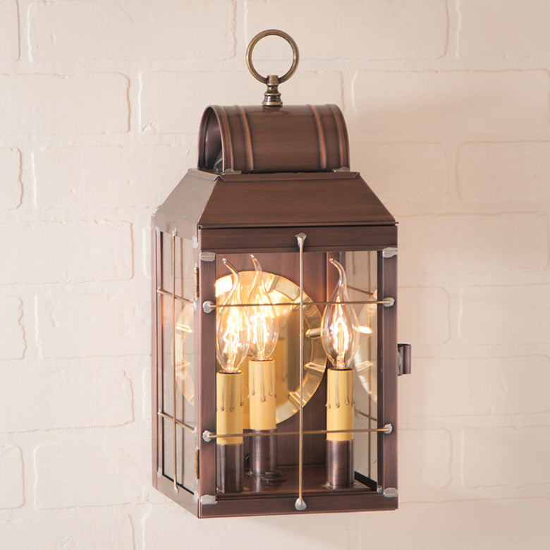Antique Copper Wall Lantern