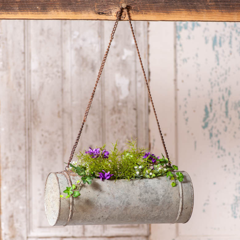 Rustic Barrel Planter