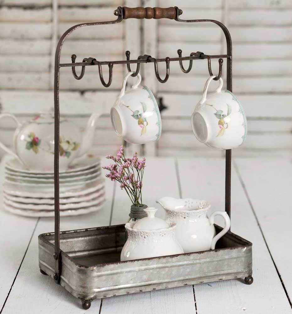 Sweet Mug Rack with Tray