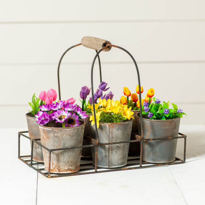 Rustic Planter Caddy
