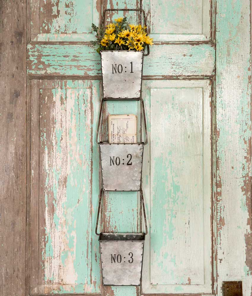 Rustic Farmhouse Wall Pockets