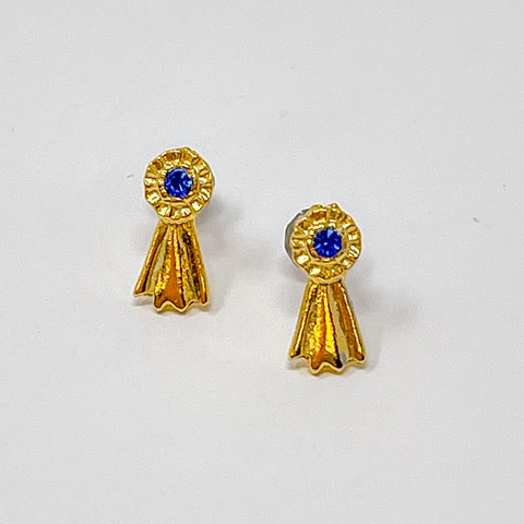 Blue Ribbon Earrings