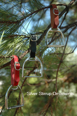 Silver Stirrup Ornament