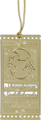 American Saddlebred Museum Logo Bookmark Gold Plated