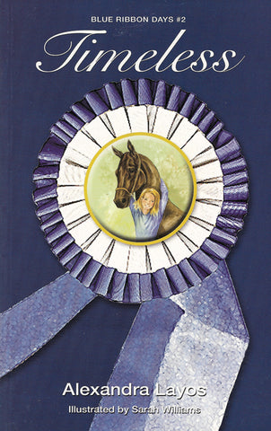 Timeless Book Cover Ribbon with Girl and Horse in Center