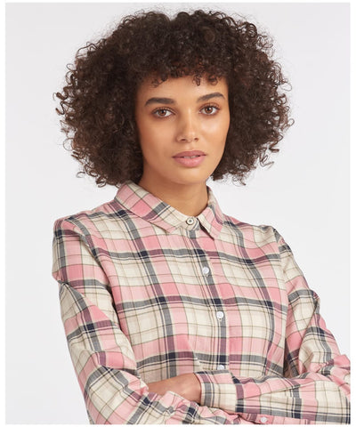 Barbour Dusty Rose Check Blouse