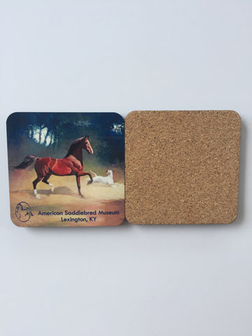 American Born Saddlebred Horse Dog Coasters George Ford Morris