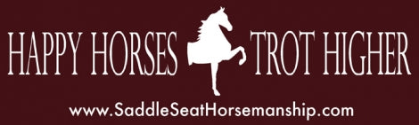 Happy Horses Trot Higher Bumper Sticker White Saddlebred