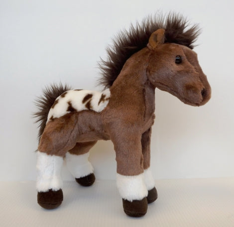 Extra Soft Horse Dakota Brown Horse with White Markings