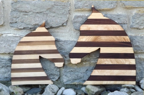 2 Horse Head Cutting Shaped Boards