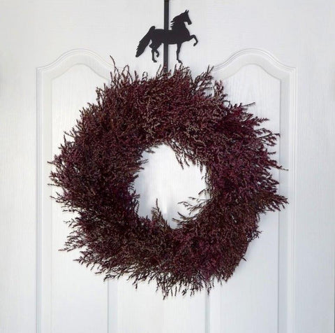 Saddlebred Wreath Hanger with Wreath
