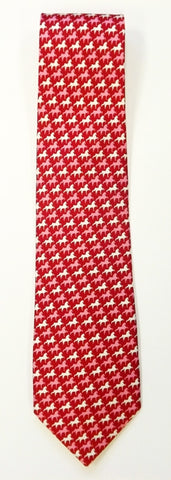 American Saddlebred Gingham Tie Red