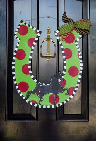 Holiday Horsehoe Door Hanger