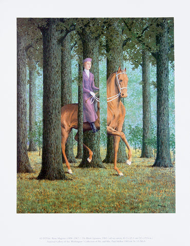 Rene Magritte The Blank Signature Print