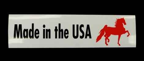 Made in the USA Red Saddlebred Bumper Sticker