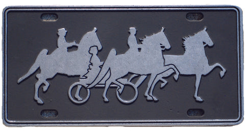 Three Horse License Plate