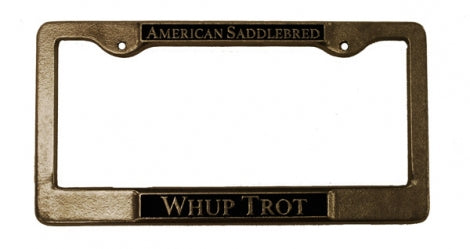 Whup Trot License Plate Frame