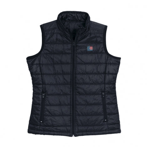 ASHA Women's Quilted Vest Charcoal