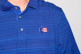 ASHA Men's Navy Polo