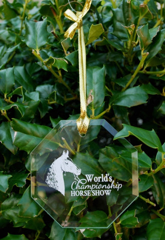 World's Championship Horse Show Glass Ornament