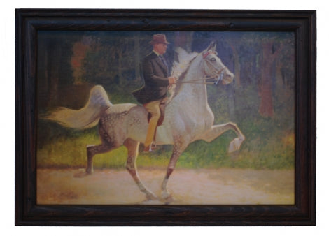 WGC CH Sweetheart On Parade Framed Print White Horse and Rider